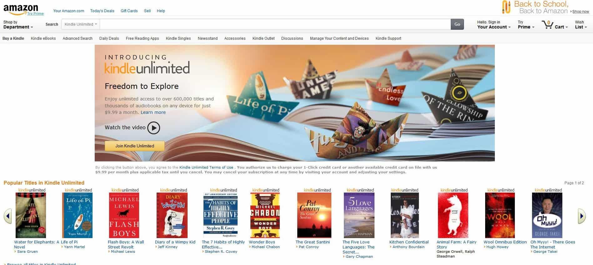 eBooks per Flatrate beziehen – das neueste Projekt von Amazon